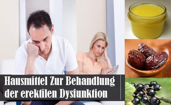 Hausmittel Zur Behandlung der erektilen Dysfunktion