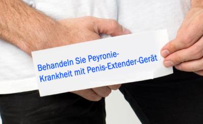 Behandeln Sie Peyronie-Krankheit mit Penis-Extender-Gerät