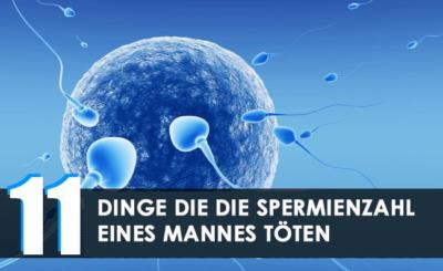 Dinge die die Spermienzahl eines Mannes töten